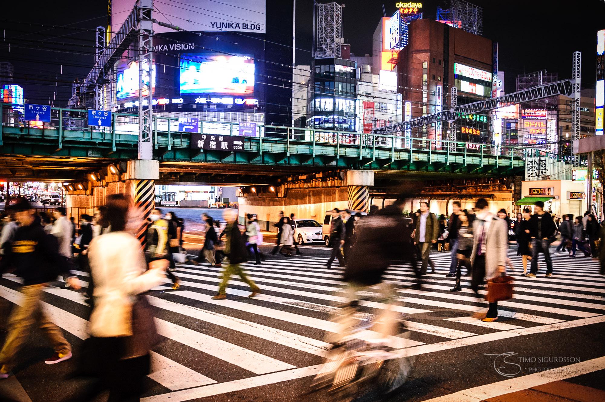 Shinjuku, Tokyo, Japan. Crossing.