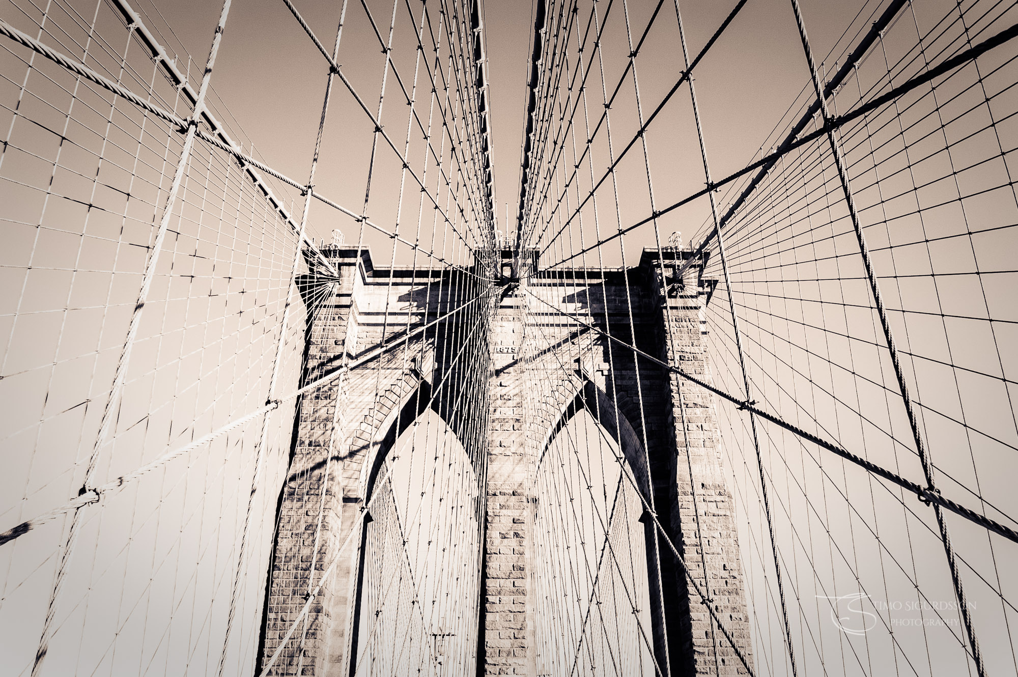 New York City, USA. Brooklyn Bridge.
