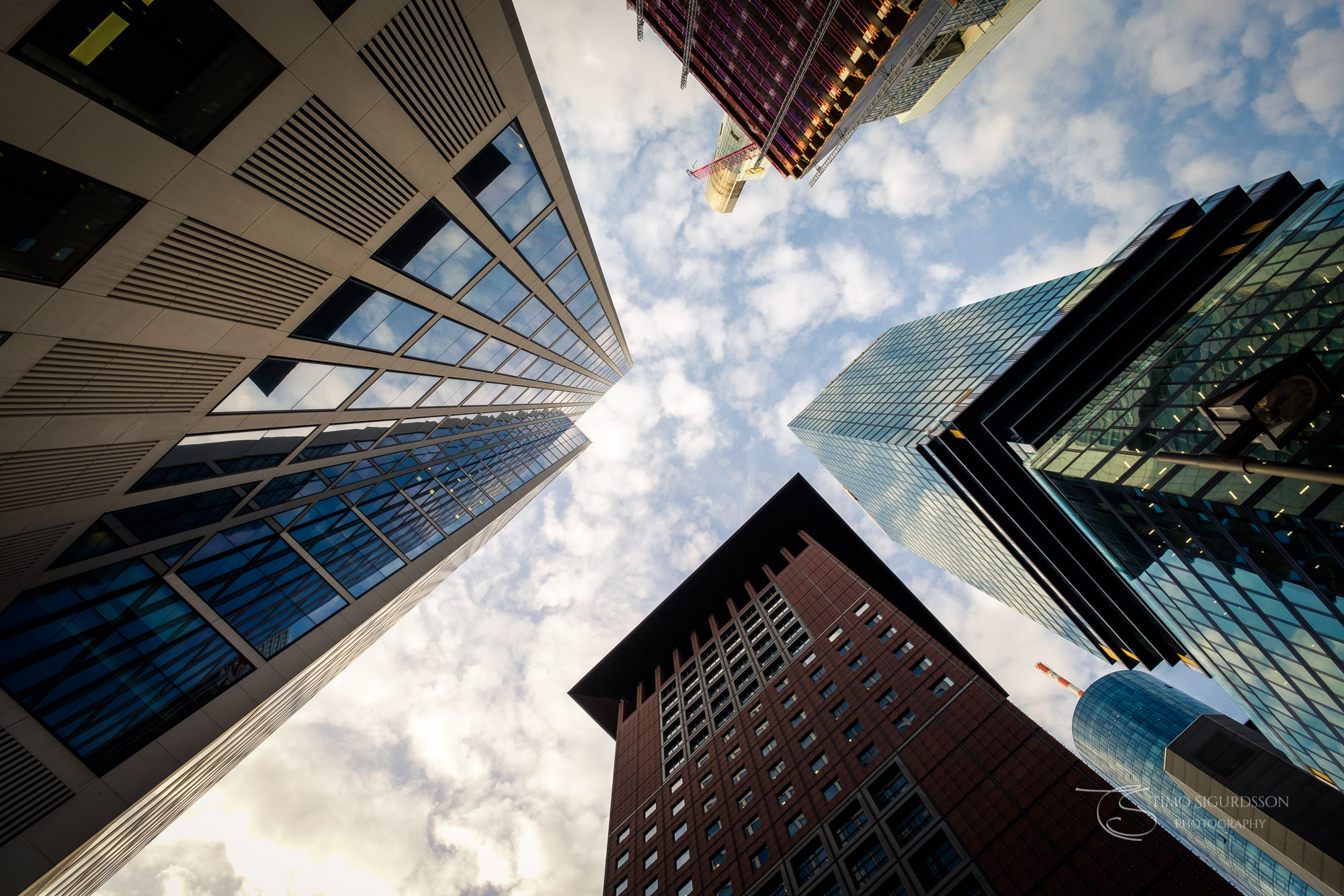 Frankfurt, Germany. Skycrapers in the financial district.